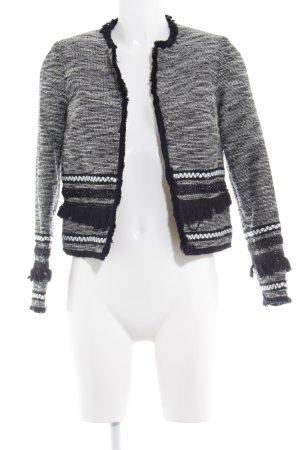H&M Giacca corta nero-bianco sporco Stile Brit