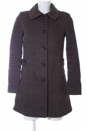 H&M Short Coat brown allover print business style
