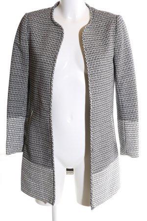 H&M Kurzmantel schwarz-weiß Allover-Druck Business-Look