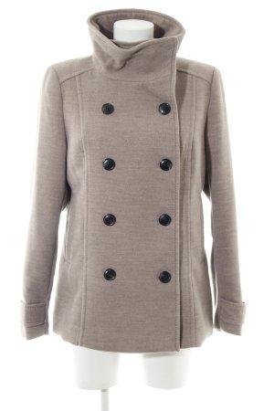 H&M Korte Jas bruin gestippeld zakelijke stijl