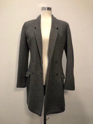 H&M Short Coat dark grey cotton