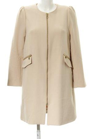 H&M Manteau court rose chair Motif de tissage style décontracté