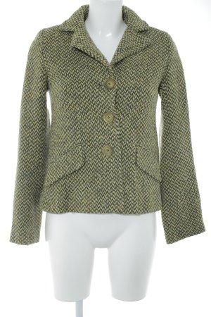 H&M Kurzmantel wiesengrün-dunkelgrün Zackenmuster Casual-Look