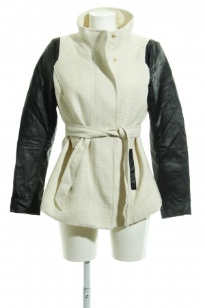 H&M Cappotto corto bianco sporco-nero stile da moda di strada
