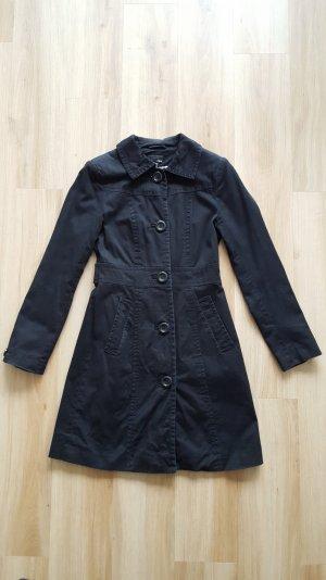 H&M Kurzmantel XS 34 schwarz