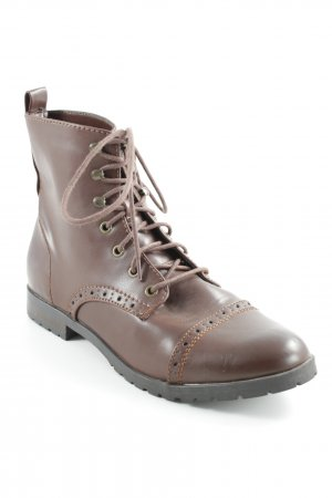 H&M Short Boots brown casual look