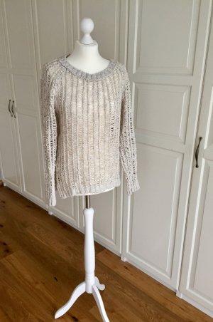 H&M Pull tricoté beige clair