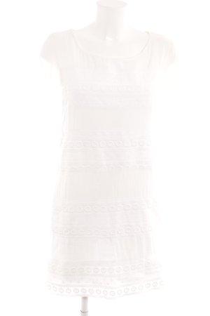 H&M L.O.G.G. A-Linien Kleid weiß florales Muster Romantik-Look