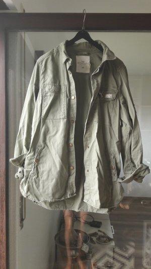 H&M L.O.G.G. Bluse Hemd Jacke Khaki Tarn 36