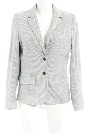 H&M L.O.G.G. Boyfriend-Blazer weiß-dunkelblau Streifenmuster Elegant