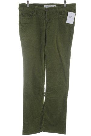 H&M L.O.G.G. Pantalón de pana verde oliva-gris verdoso look casual