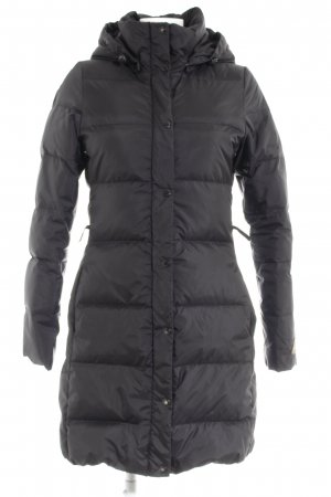 H&M L.O.G.G. Down Coat black quilting pattern casual look