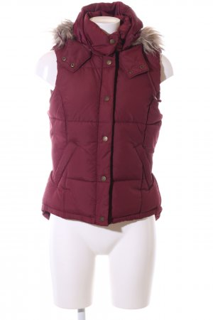 H&M L.O.G.G. Donsvest rood quilten patroon casual uitstraling