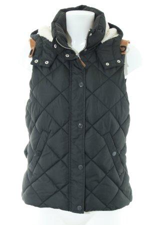H&M L.O.G.G. Donsvest zwart quilten patroon casual uitstraling