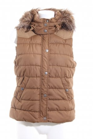 H&M L.O.G.G. Donsvest brons-nude quilten patroon casual uitstraling