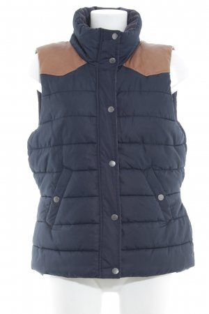 H&M L.O.G.G. Donsvest donkerblauw-bruin quilten patroon casual uitstraling