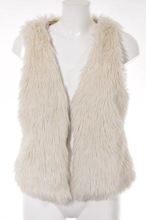 H&M L.O.G.G. Smanicato di pelliccia crema stile casual