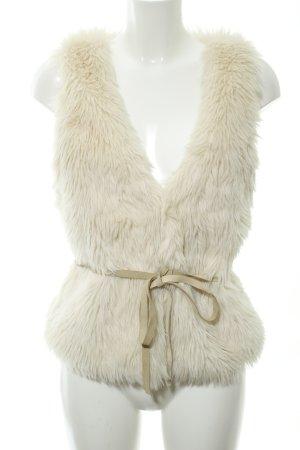 H&M L.O.G.G. Smanicato di pelliccia bianco sporco-beige chiaro stile casual