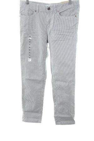 H&M L.O.G.G. Five-Pocket-Hose graublau-hellbeige Streifenmuster Casual-Look