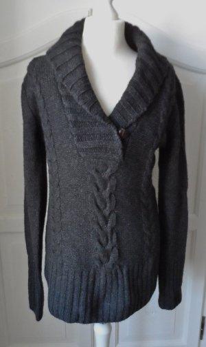 H&M L.O.G.G. Grobstick Long Pullover Gr. L (38/40)Anthrazit  NEU m. Etikett