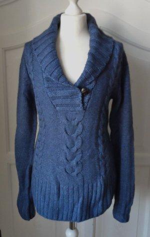 H&M L.O.G.G. Grobstick Pullover Gr. M Blau NEU m. Etikett