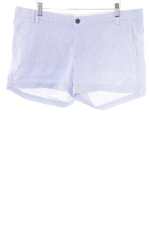 H&M L.O.G.G. Short taille haute blanc-gris ardoise motif rayé