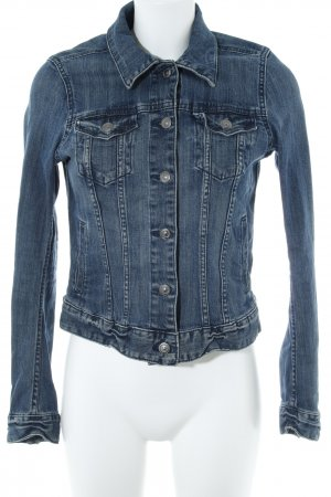 H&M L.O.G.G. Spijkerjack donkerblauw casual uitstraling