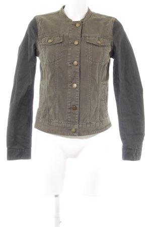 H&M L.O.G.G. Jeansjacke khaki-schwarz Casual-Look