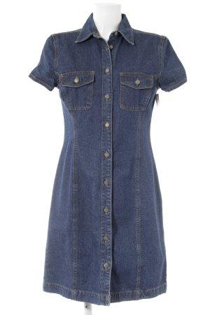 H&M L.O.G.G. Jeanskleid blau Jeans-Optik