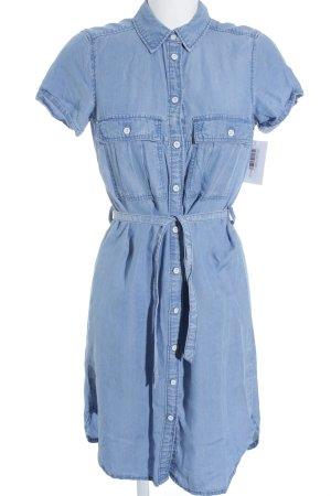 H&M L.O.G.G. Vestido vaquero azul aciano estilo clásico