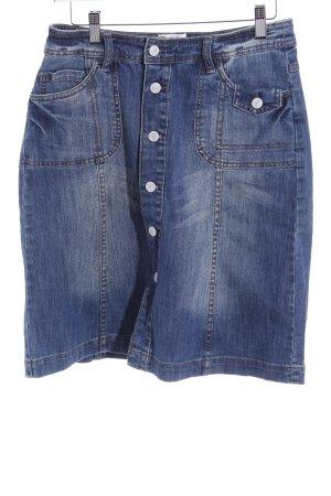 H&M L.O.G.G. Jeansrock blau Washed-Optik