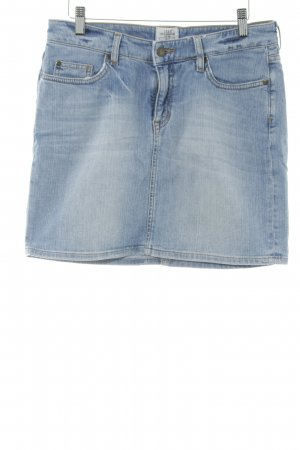 H&M L.O.G.G. Jeansrock hellblau Washed-Optik