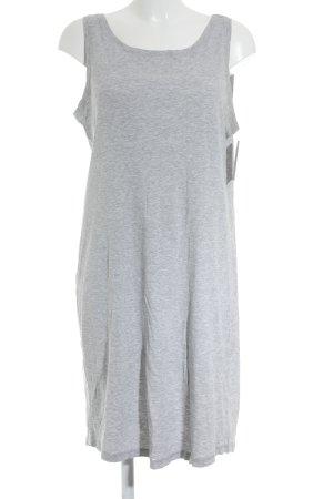 H&M L.O.G.G. Jerseykleid hellgrau-grau meliert klassischer Stil