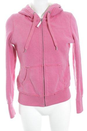H&M L.O.G.G. Kapuzenjacke pink Casual-Look