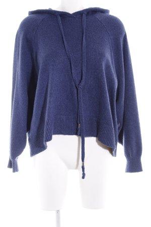 H&M L.O.G.G. Jersey con capucha azul oscuro-violeta azulado estilo deportivo