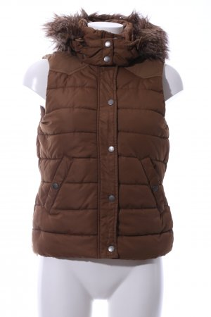 H&M L.O.G.G. Hooded Vest brown quilting pattern casual look