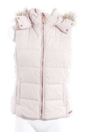 H&M L.O.G.G. Hooded Vest pink-rose-gold-coloured casual look