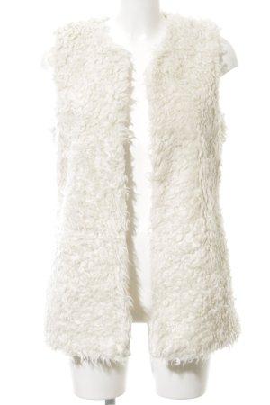 H&M L.O.G.G. Vest van imitatiebont wolwit straat-mode uitstraling