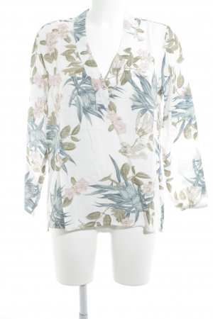 H&M L.O.G.G. Langarm-Bluse florales Muster Beach-Look