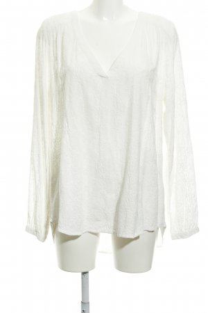 H&M L.O.G.G. Langarm-Bluse wollweiß florales Muster Casual-Look