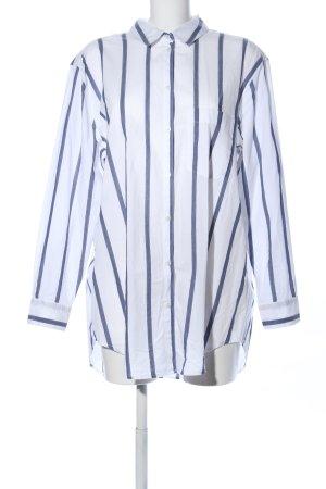 H&M L.O.G.G. Camicia a maniche lunghe bianco-blu motivo a righe stile casual