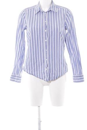 H&M L.O.G.G. Langarmhemd himmelblau-weiß Streifenmuster College-Look
