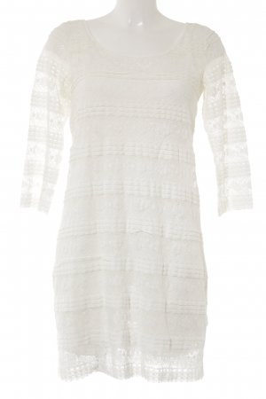 H&M L.O.G.G. Longsleeve Dress natural white floral pattern casual look