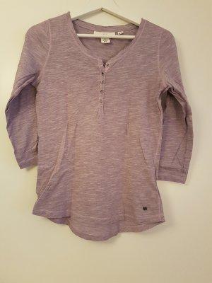H&M L.O.G.G. Camisa larga malva-violeta grisáceo Algodón