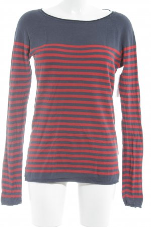 H&M L.O.G.G. Longesleeve rood-blauw colour blocking casual uitstraling
