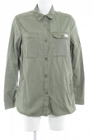 H&M L.O.G.G. Chaqueta militar verde oliva look casual