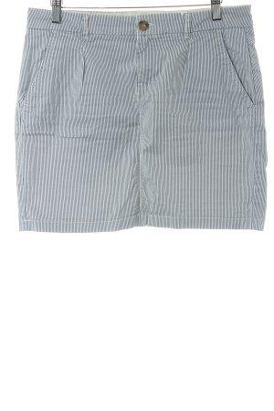 H&M L.O.G.G. Minirock stahlblau-weiß Streifenmuster Casual-Look