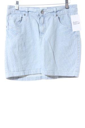 H&M L.O.G.G. Minirock weiß-stahlblau Streifenmuster Casual-Look