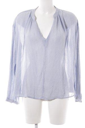 H&M L.O.G.G. Blouse oversized bleu azur-blanc motif rayé style décontracté
