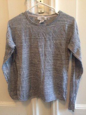 H&M L.O.G.G. Kraagloze sweater lichtgrijs